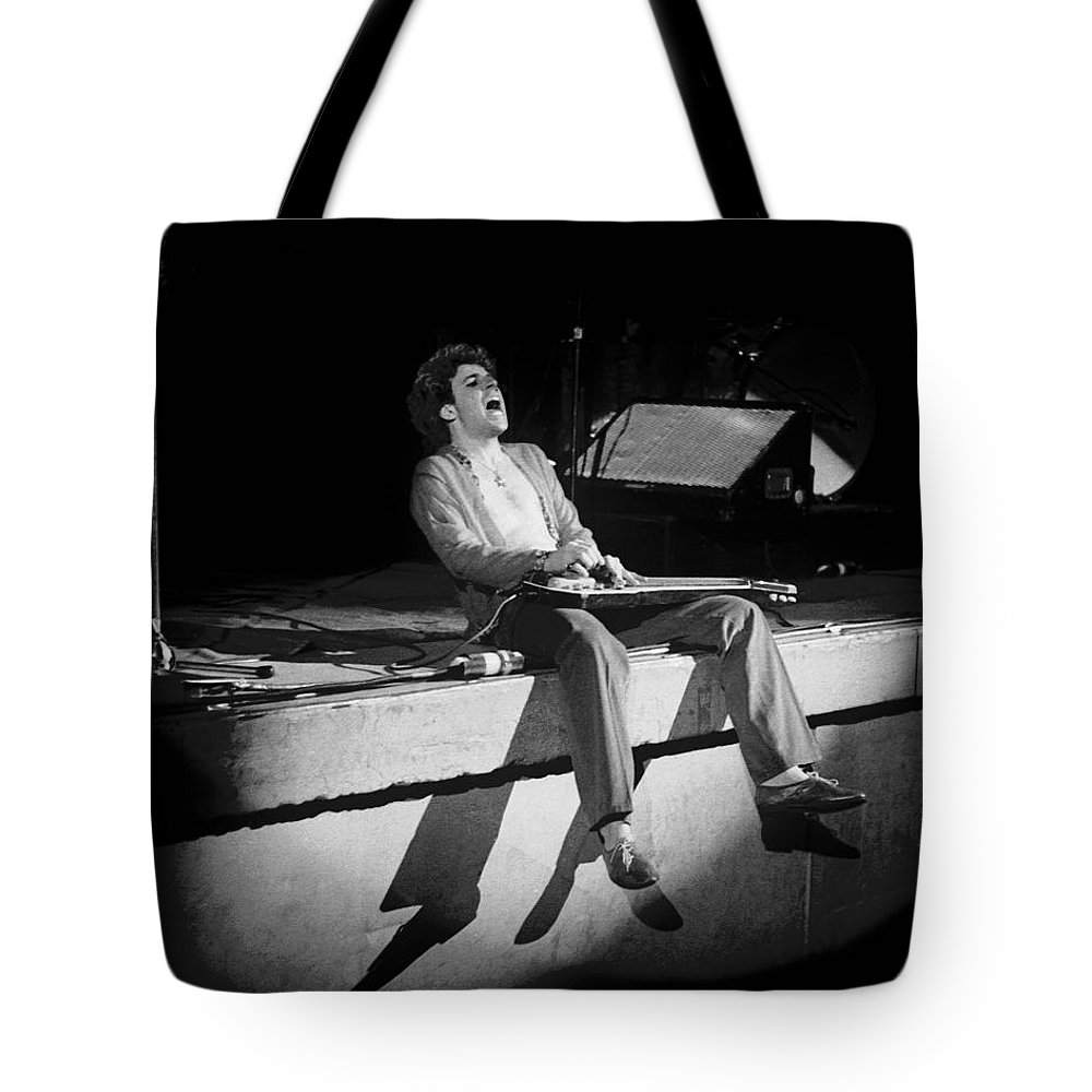 Sammy Hagar Tote Bag featuring the photograph Riding The Bad Motor Scooter In Spokane On 2-2-77 by Ben Upham