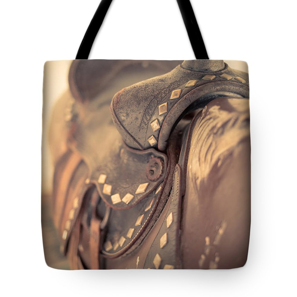 Saddle Tote Bag featuring the photograph Riding The Saddle Again by Edward Fielding