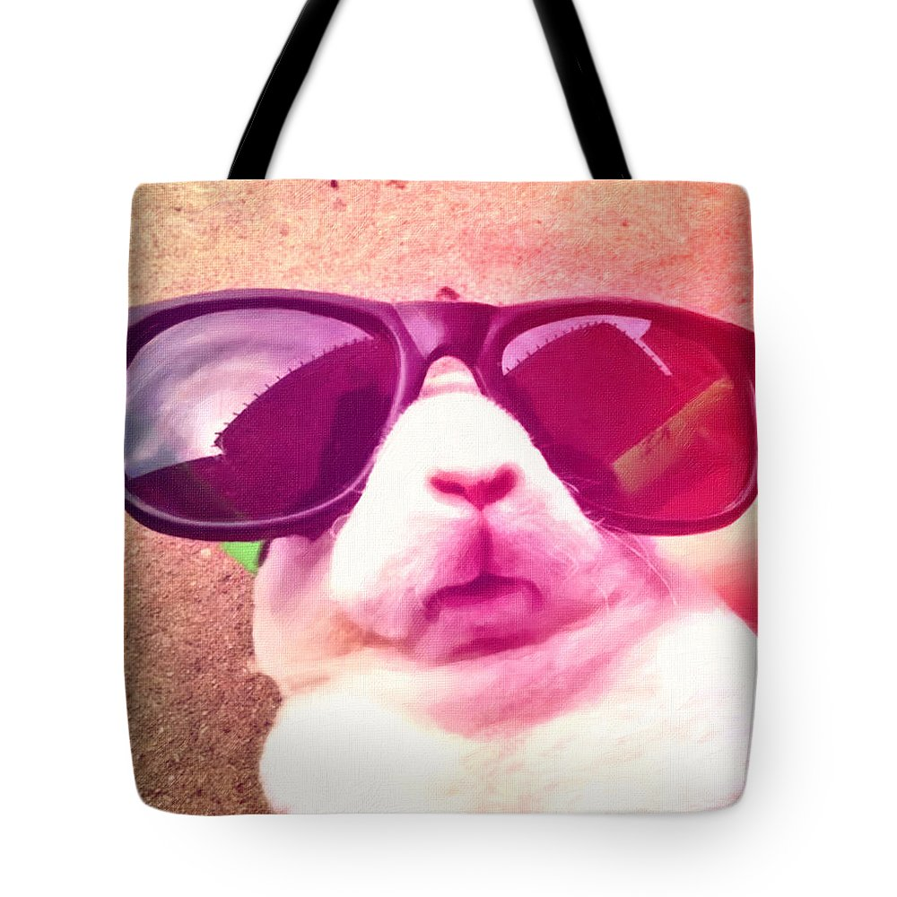 Rifki Poster Tote Bag featuring the painting Rifki by MotionAge Designs