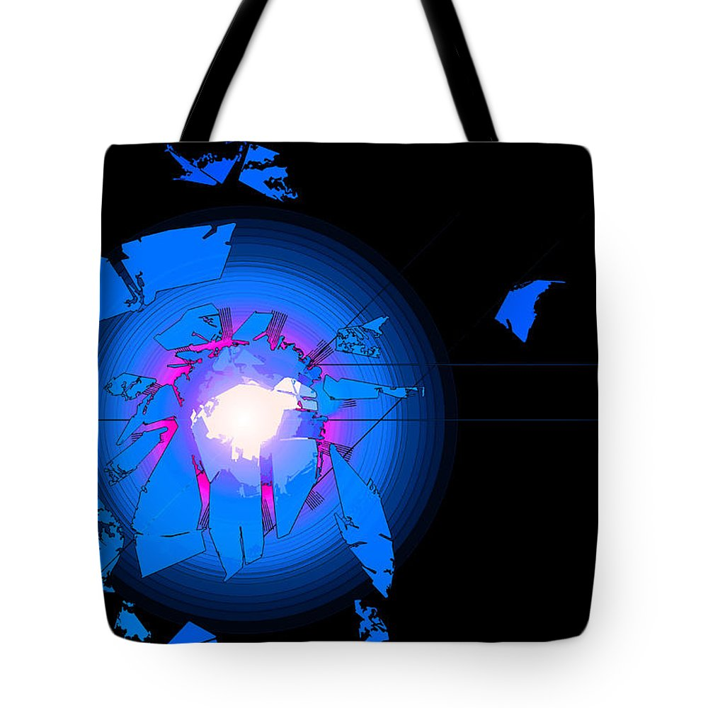 Digital Tote Bag featuring the digital art Rift by Bob Geary