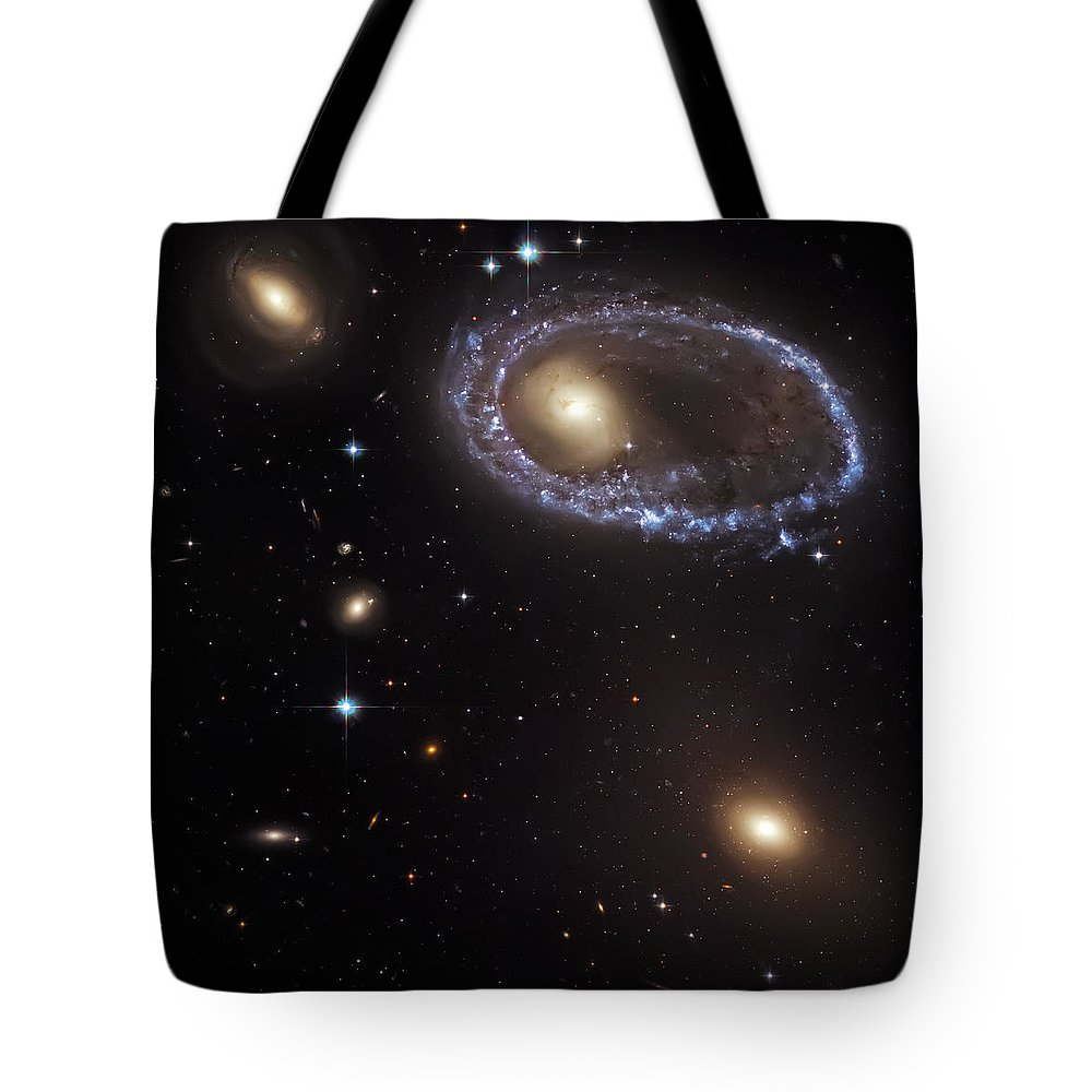 Universe Tote Bag featuring the photograph Ring Galaxy by Jennifer Rondinelli Reilly - Fine Art Photography