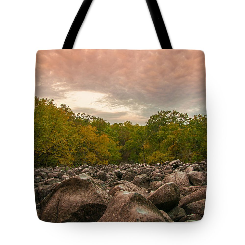 Pennsylvania Tote Bag featuring the photograph Ringing Rock by Kristopher Schoenleber