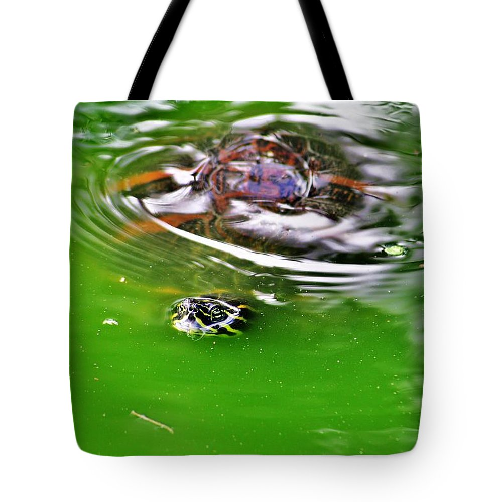 Everglades Tote Bag featuring the photograph Rippled Green by Chuck Hicks