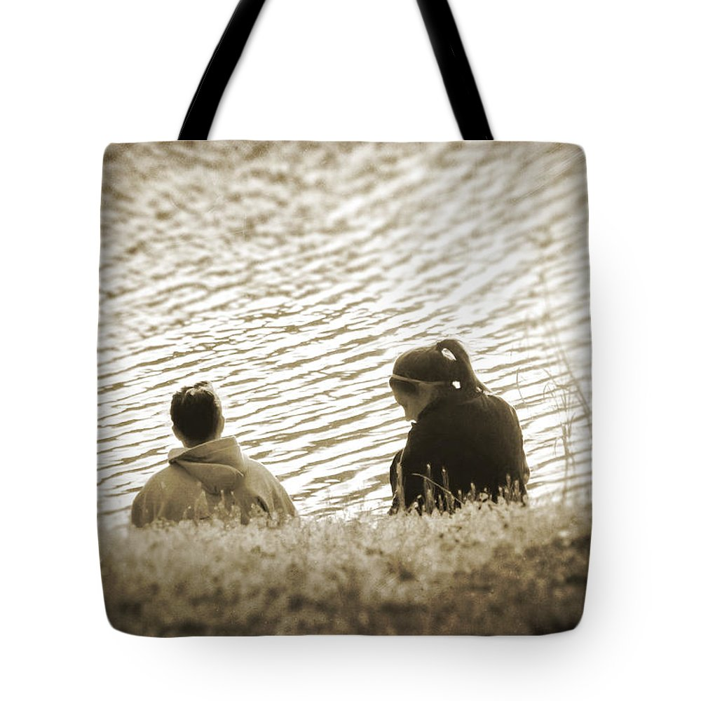 2d Tote Bag featuring the photograph Ripples In Time by Brian Wallace