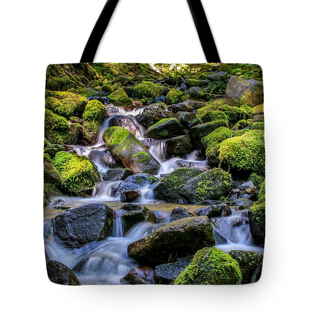 Gigimarie Tote Bag featuring the photograph Rippling Rainforest by Gina Herbert