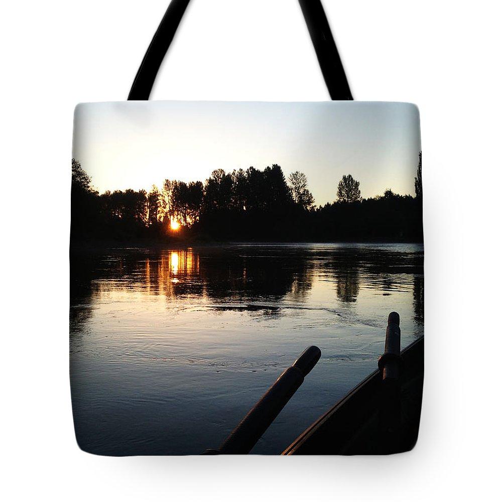 Driftboat Tote Bag featuring the photograph Rise Drift by Sara Stevenson