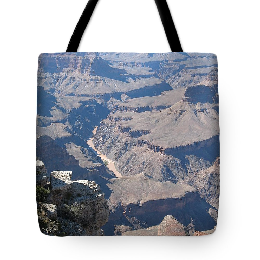Canyon Tote Bag featuring the photograph River Deep - Mountain High - Grand Canyon And Colorado River by Christiane Schulze Art And Photography