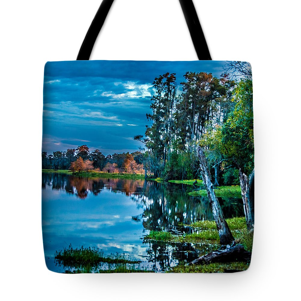 River Tote Bag featuring the photograph River Hdr by Leticia Latocki