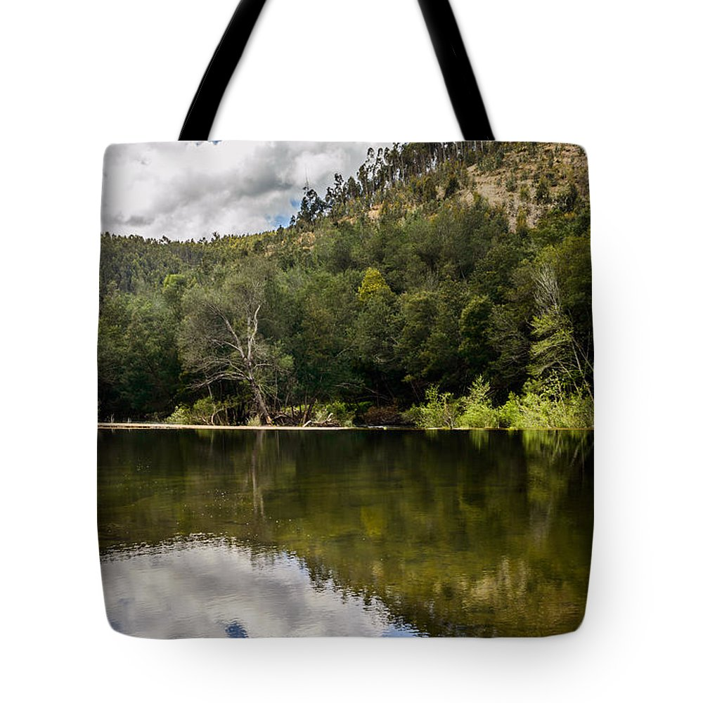 River Tote Bag featuring the photograph River Reflections I by Marco Oliveira