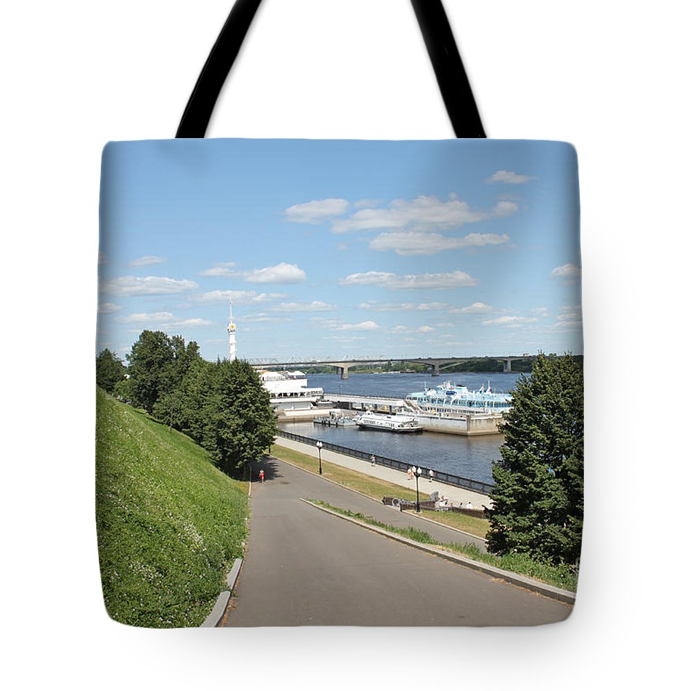 Beauty Tote Bag featuring the photograph River Station by Evgeny Pisarev