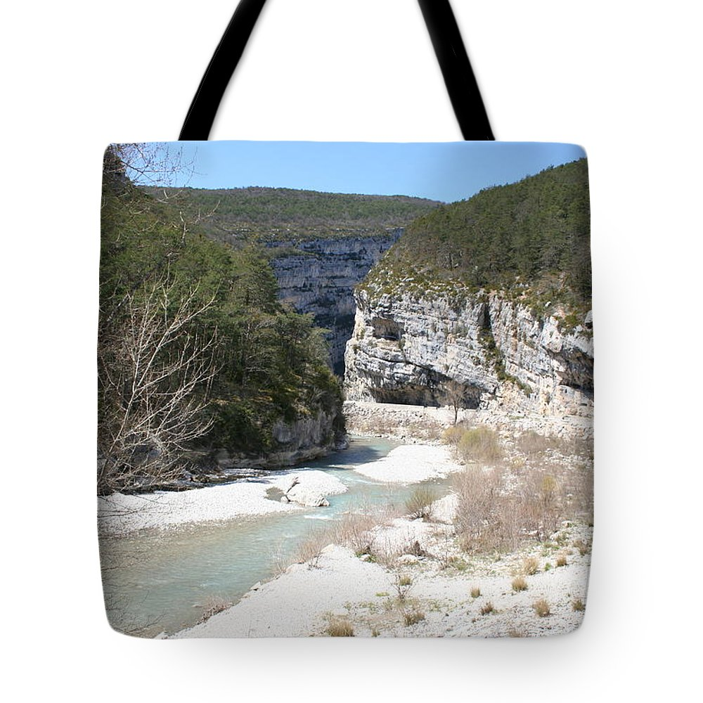 River Tote Bag featuring the photograph River Verdon Valley by Christiane Schulze Art And Photography