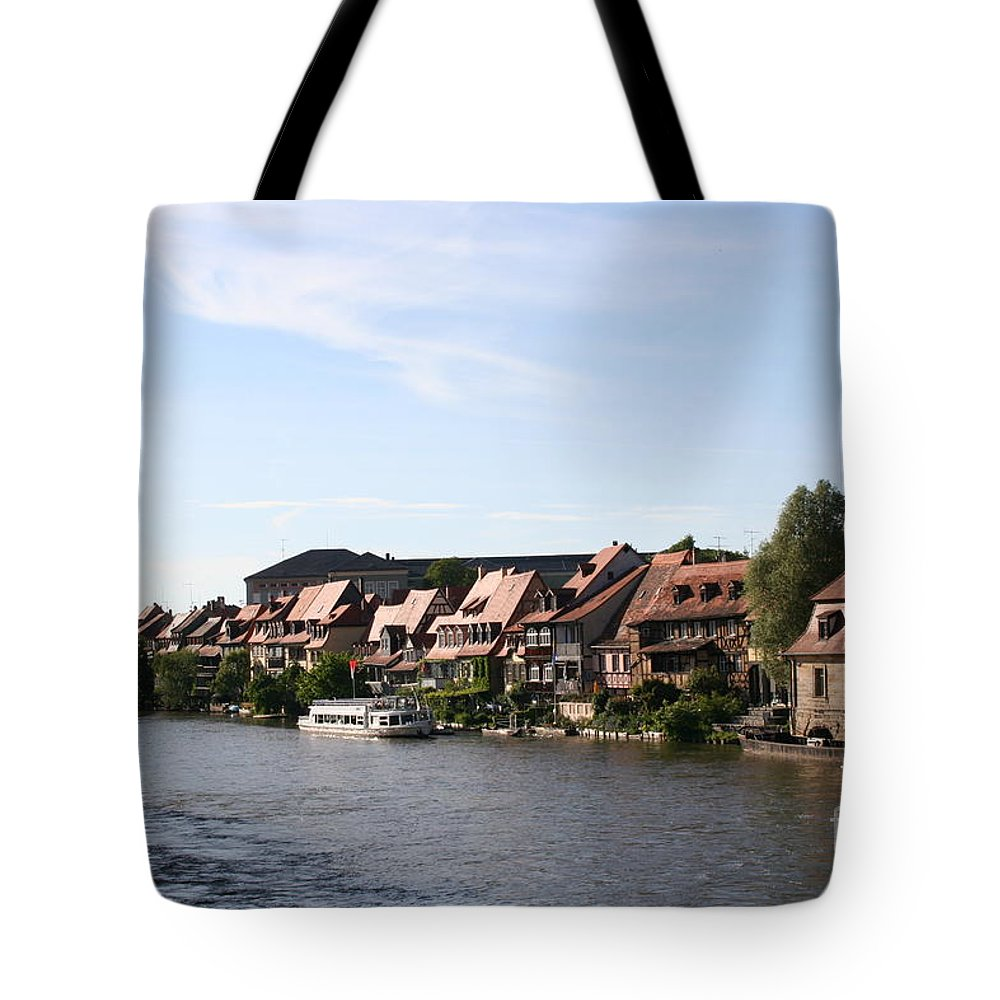 River Tote Bag featuring the photograph Riverside Of Bamberg - Germany by Christiane Schulze Art And Photography