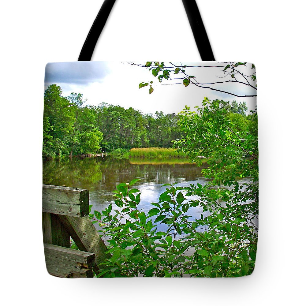 Rivier Du Nord In The Laurentians North Of Montreal Tote Bag featuring the photograph Rivier Du Nord In The Laurentians-qc by Ruth Hager