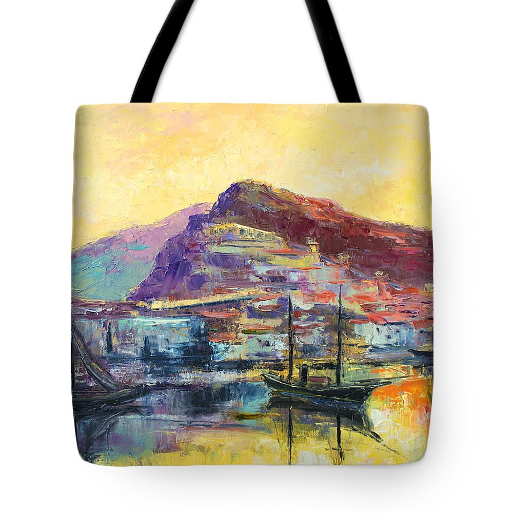Italy Tote Bag featuring the painting Riviera Di Ponente by Luke Karcz