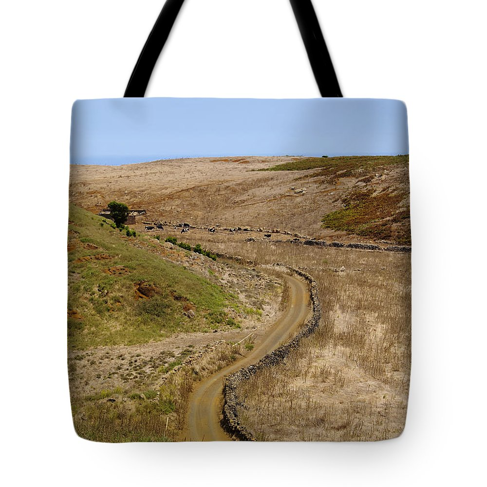 Hierro Tote Bag featuring the photograph Road On Hierro by Karol Kozlowski
