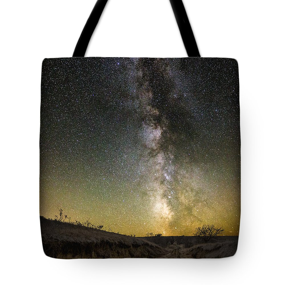 Great Rift Tote Bag featuring the photograph Road To Nowhere - Great Rift by Aaron J Groen