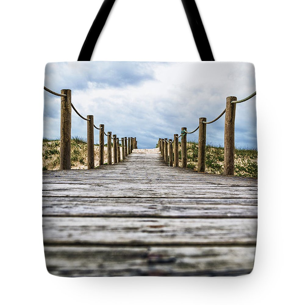 Travel Tote Bag featuring the photograph Road To The Dunes by Paulo Goncalves