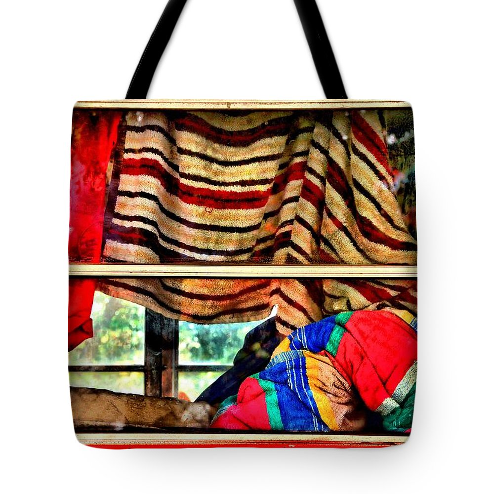 Abstract Tote Bag featuring the photograph Road Trip by Lauren Leigh Hunter Fine Art Photography