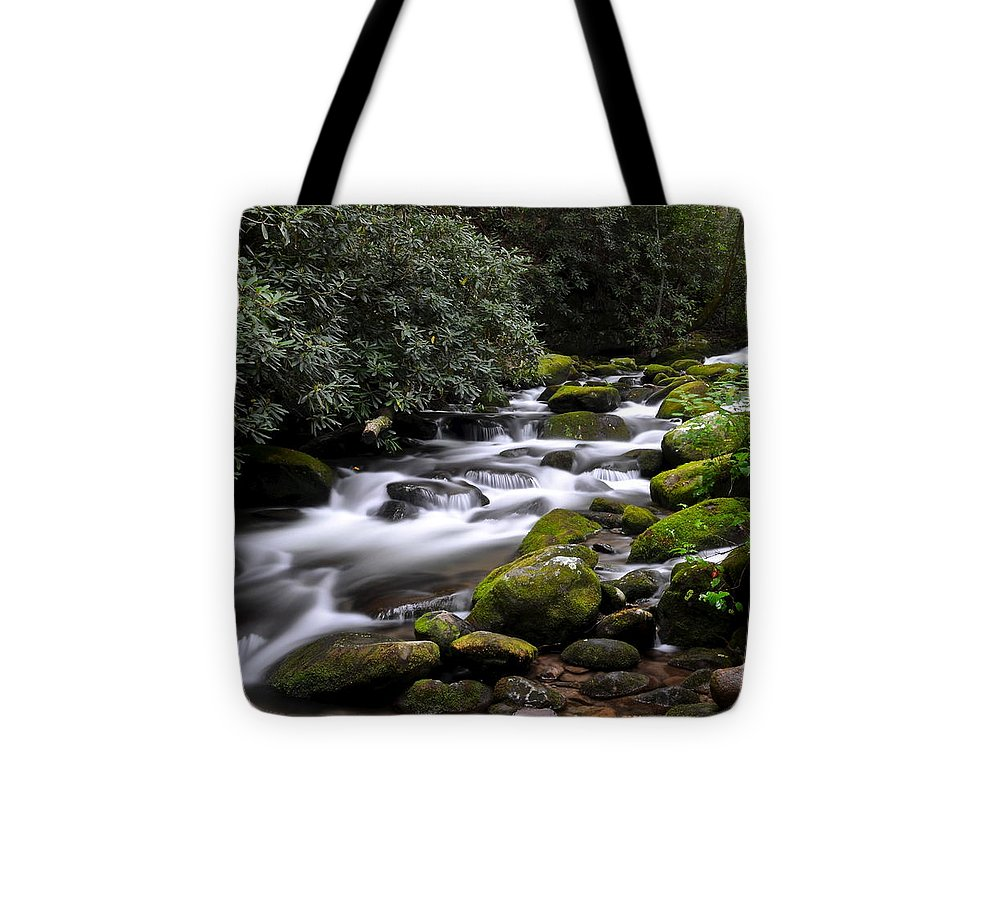Stream Tote Bag featuring the photograph Roaring Fork by Frozen in Time Fine Art Photography