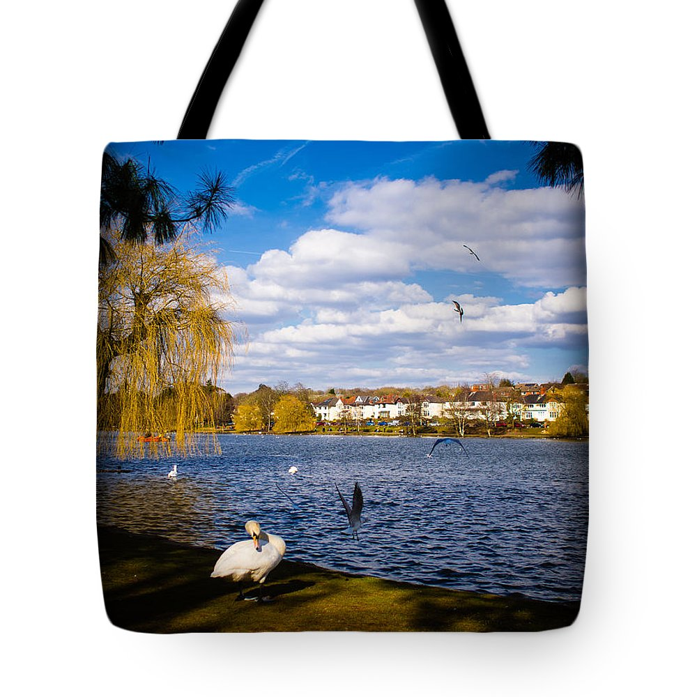 Beak Tote Bag featuring the photograph Roath Park Lake by Mark Llewellyn