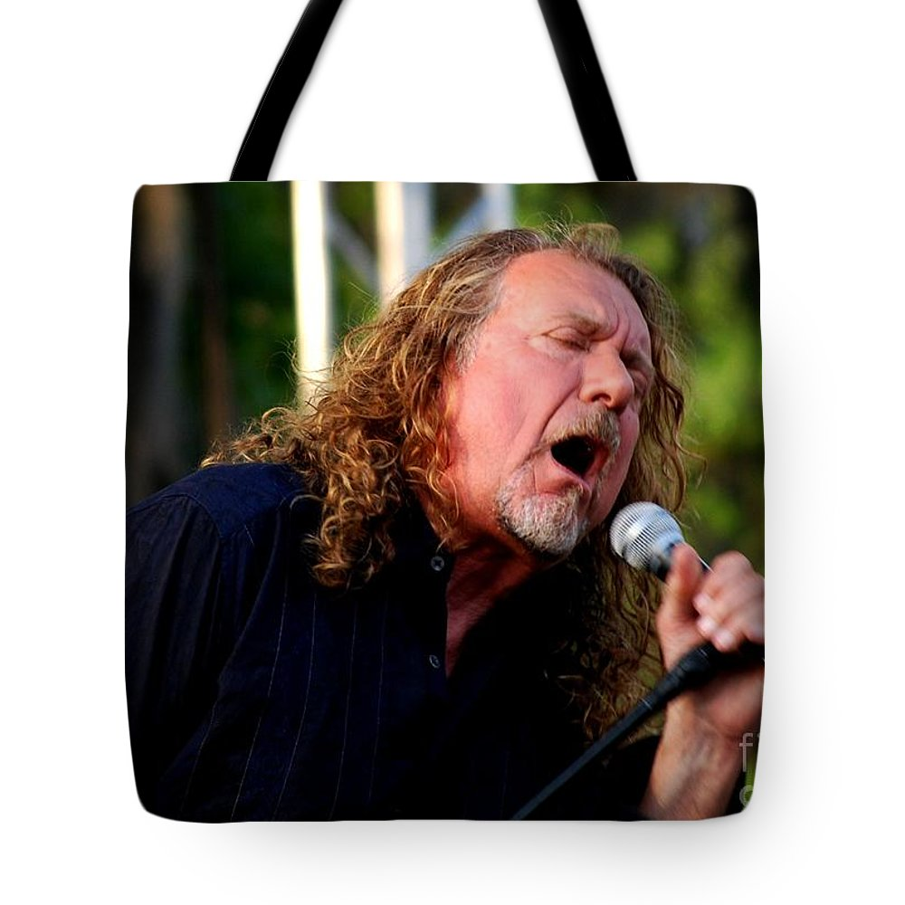 Music Tote Bag featuring the photograph Robert Plant 2 by Angela Murray