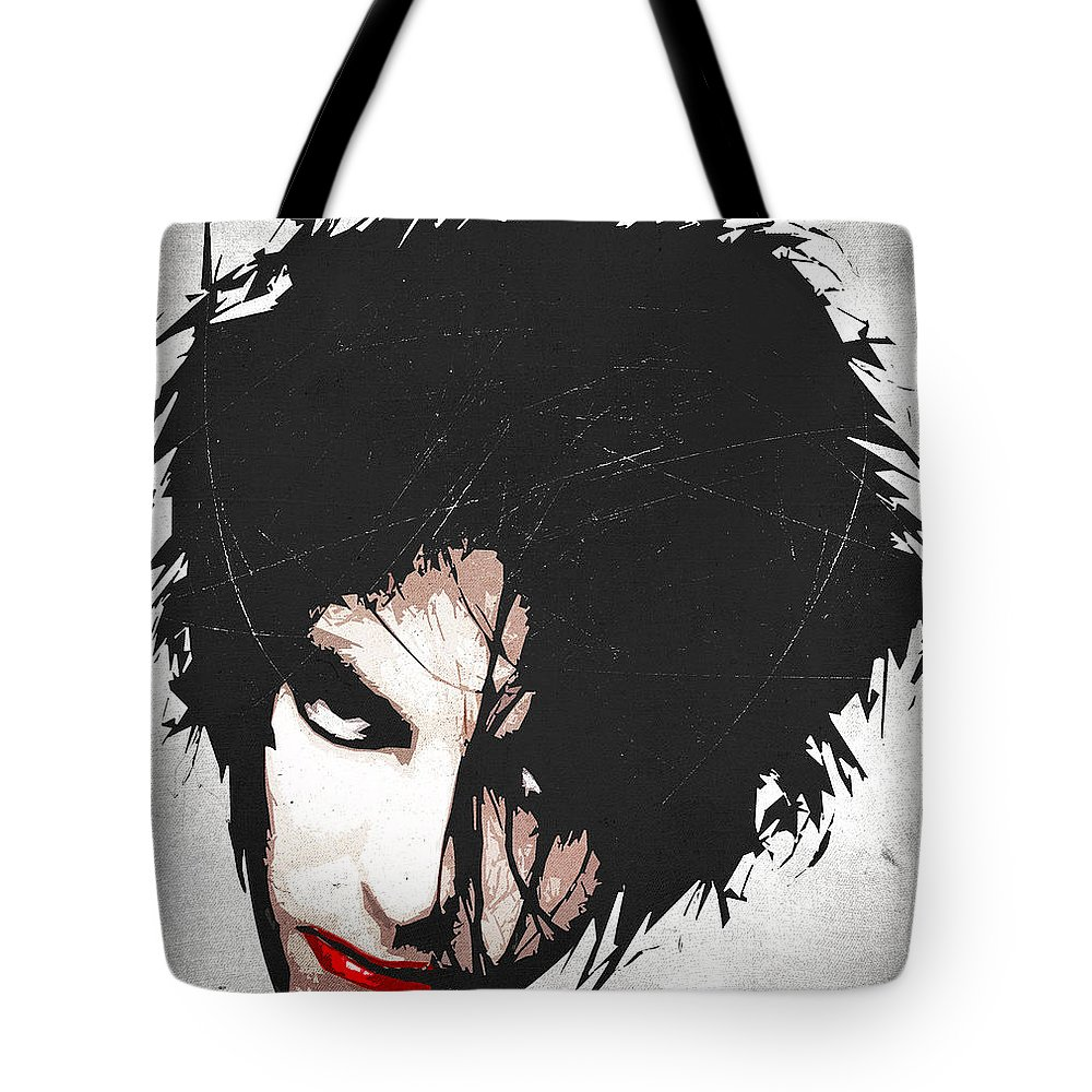 Robert Tote Bag featuring the digital art Robert Smith by Filippo B
