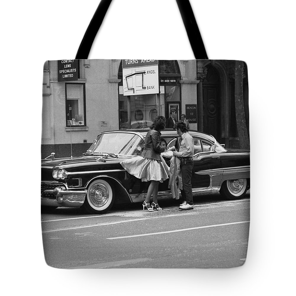 Rock Tote Bag featuring the photograph Rock And Roll Radio Campaign by David Fowler