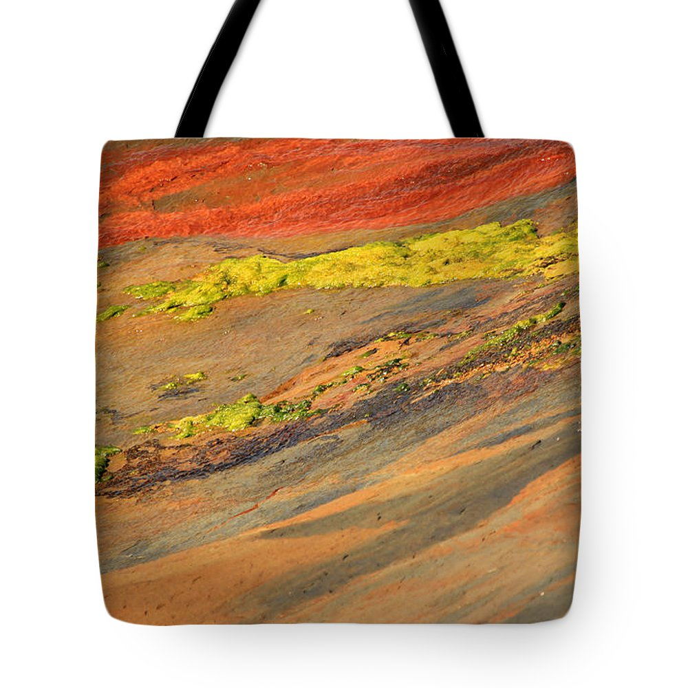 Orange Tote Bag featuring the photograph Rock Art by Kris Hiemstra