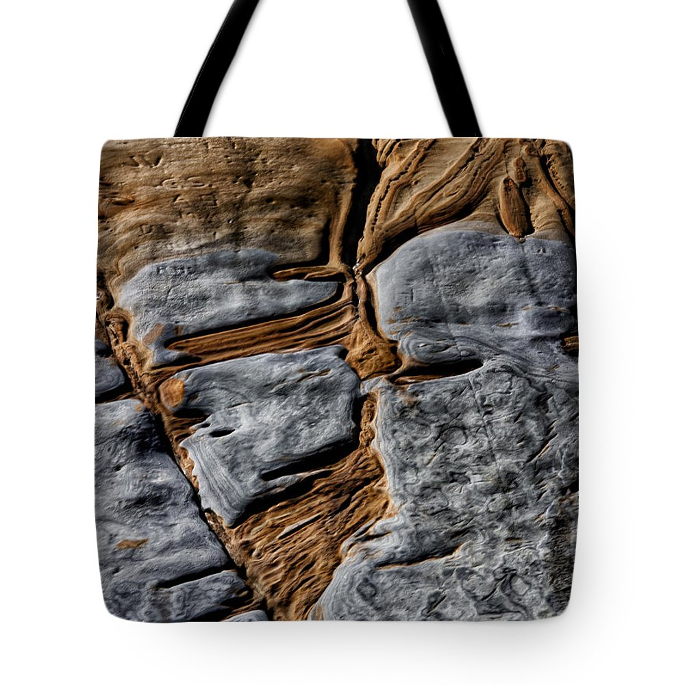 Rock Tote Bag featuring the photograph Rock Art by Robert Woodward