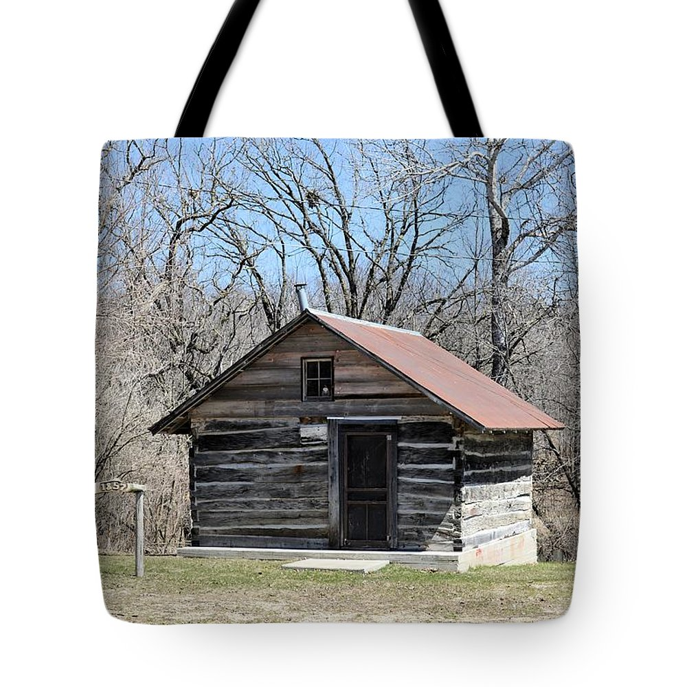 Cabin Tote Bag featuring the photograph Rock Creek Founder by Bonfire Photography