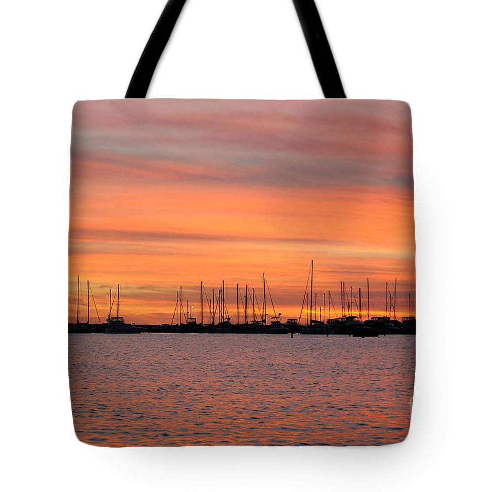 Rock Hall Tote Bag featuring the photograph Rock Hall Sunset II by Cindy Roesinger