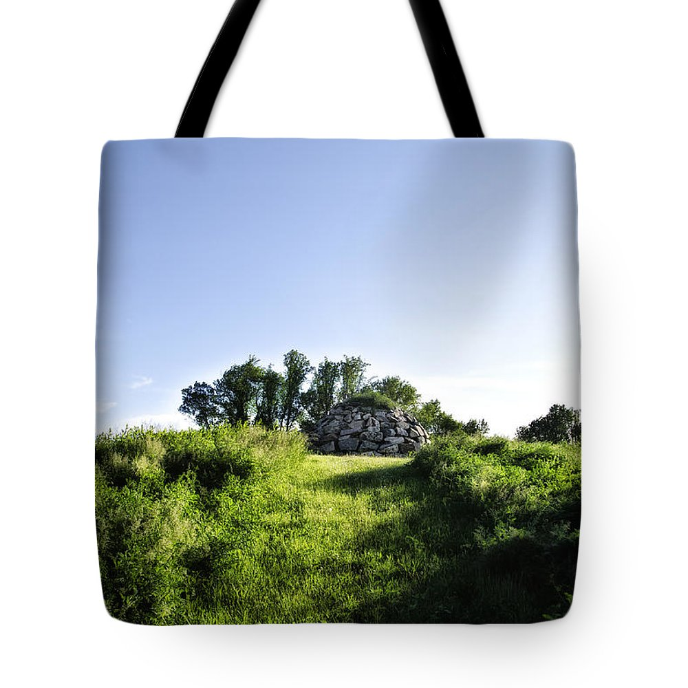 Rock Tote Bag featuring the photograph Rock Pyramid by Bill Cannon