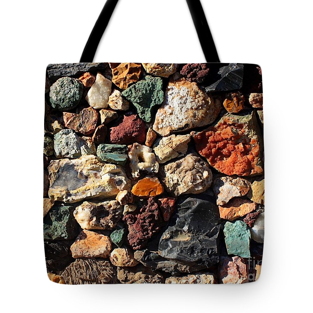 Rocks Tote Bag featuring the photograph Rock Wall by Carol Groenen