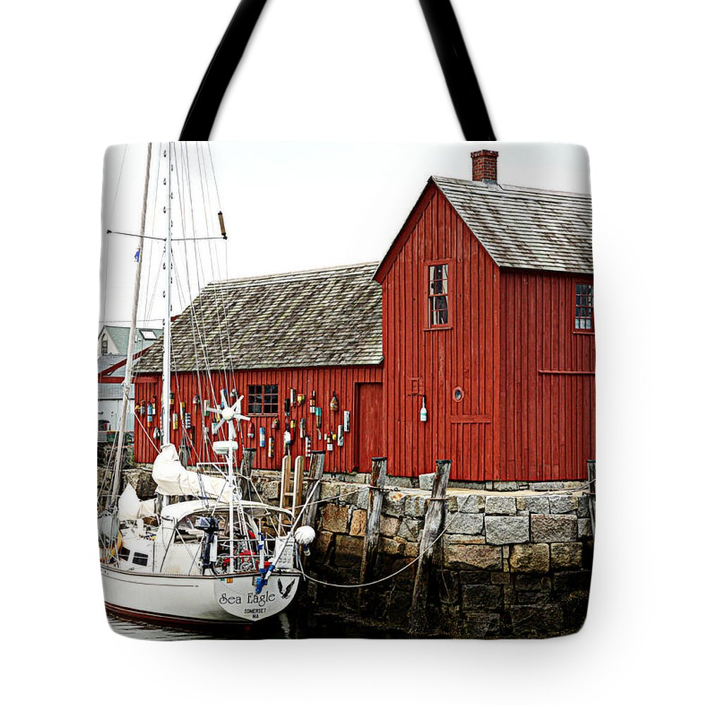 Rockport Tote Bag featuring the photograph Rockport - Motif Number 1 by Stephen Stookey