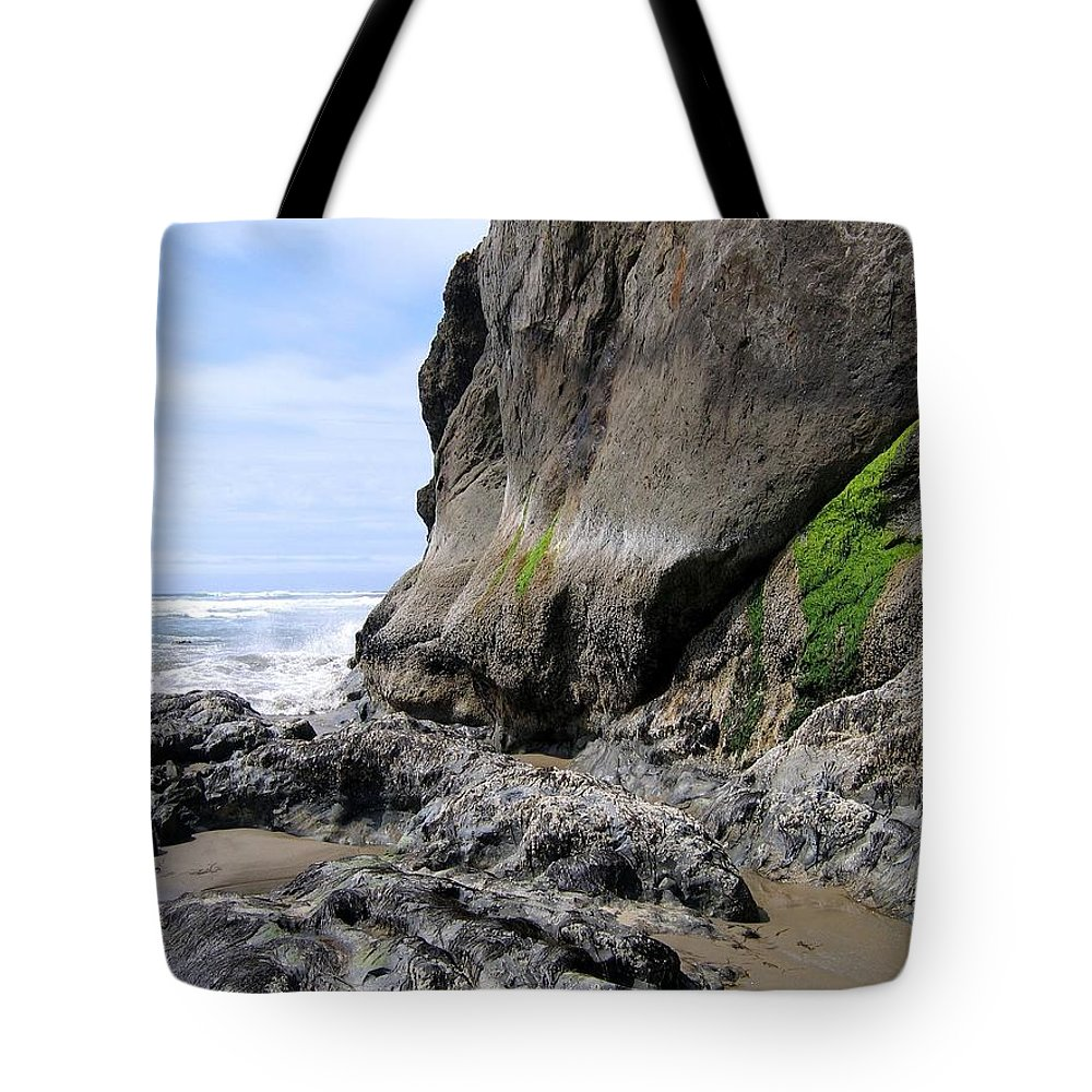 Rocks At Arcadia Beach Tote Bag featuring the photograph Rocks At Arcadia Beach by Will Borden