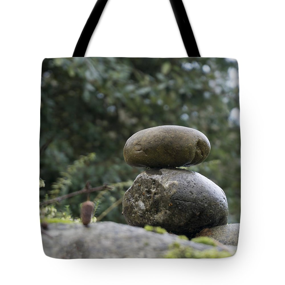 Tote Bag featuring the photograph Rocks In The Garden by Cathy Anderson
