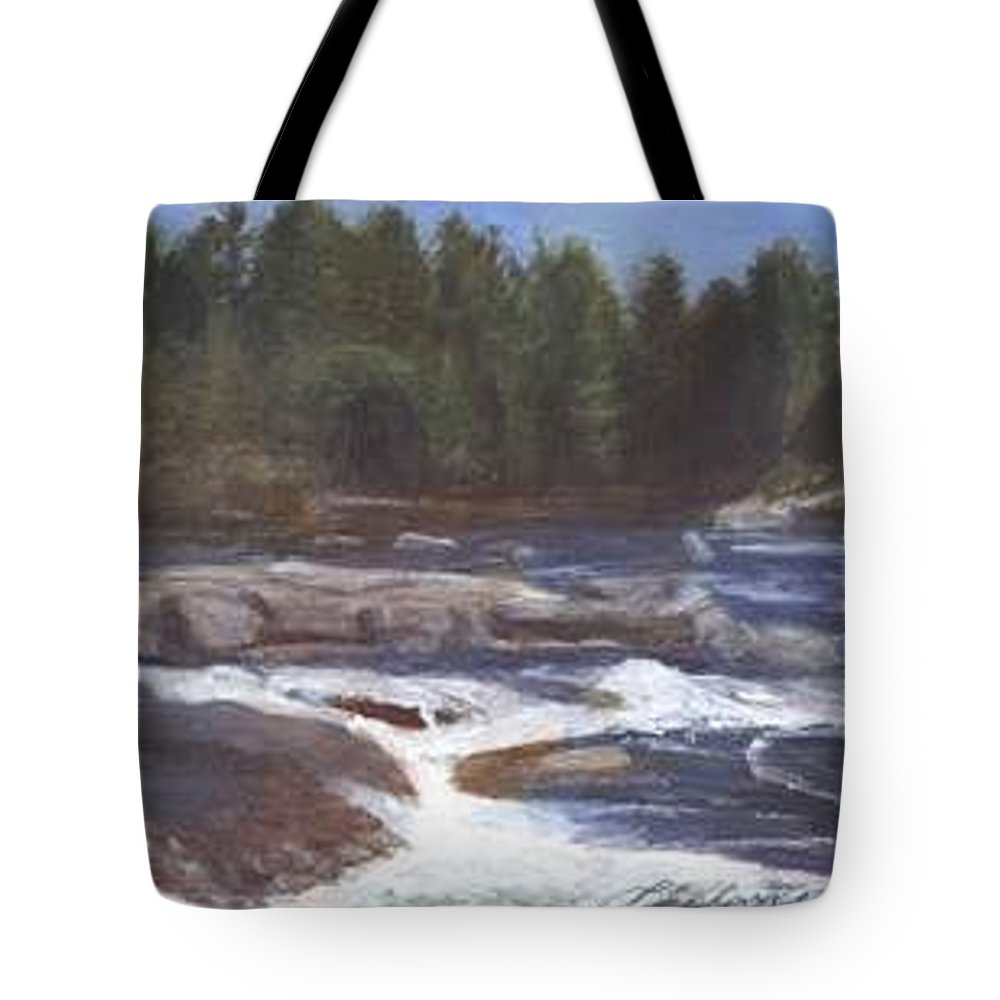 Rocks Tote Bag featuring the painting Rocks by Sheila Mashaw
