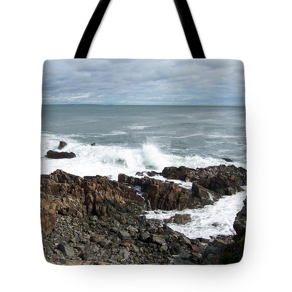 Maine Tote Bag featuring the photograph Rocky Coast by Catherine Gagne