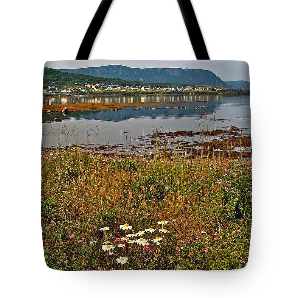 Rocky Harbour In Gros Morne Np Tote Bag featuring the photograph Rocky Harbour-nl by Ruth Hager