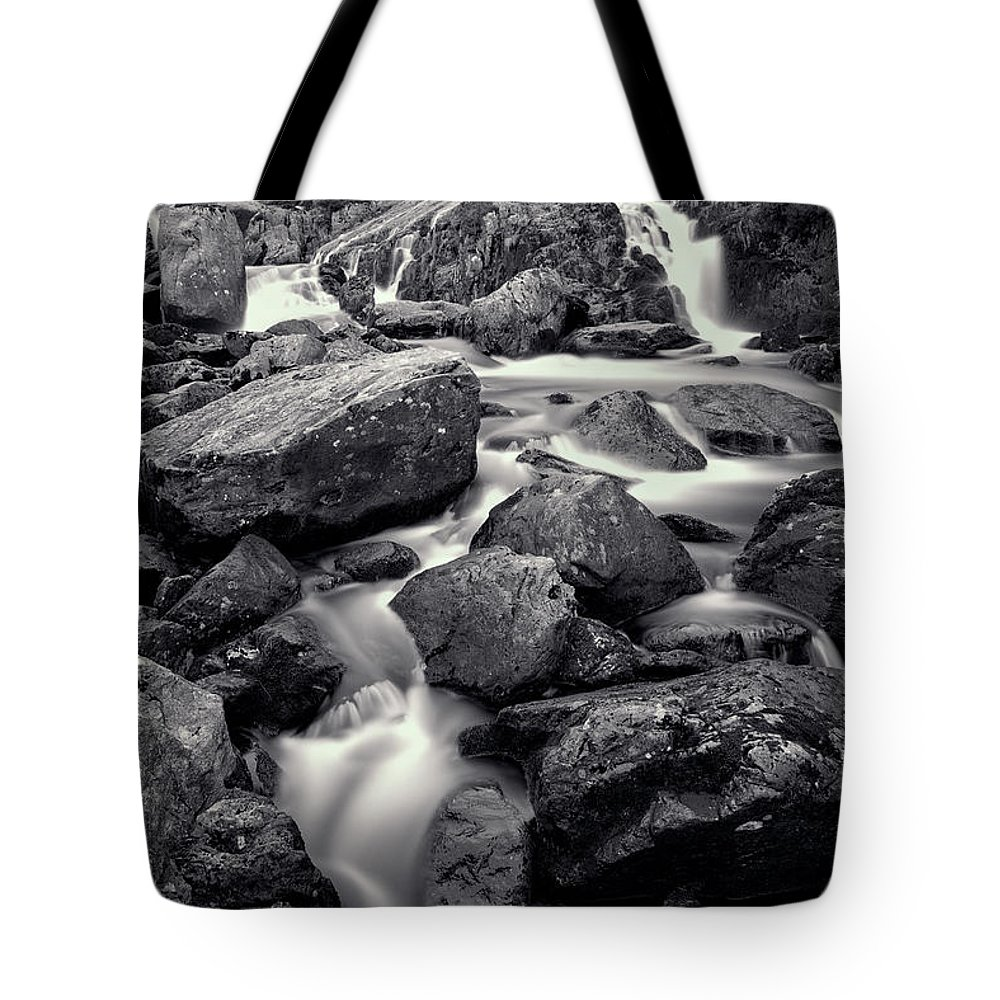 Afon Ogwen Tote Bag featuring the photograph Rocky Stream by Adrian Evans