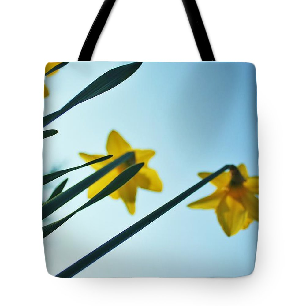Rodchenko Tote Bag featuring the photograph Rodchenko's Daffodils by Andy Prendy