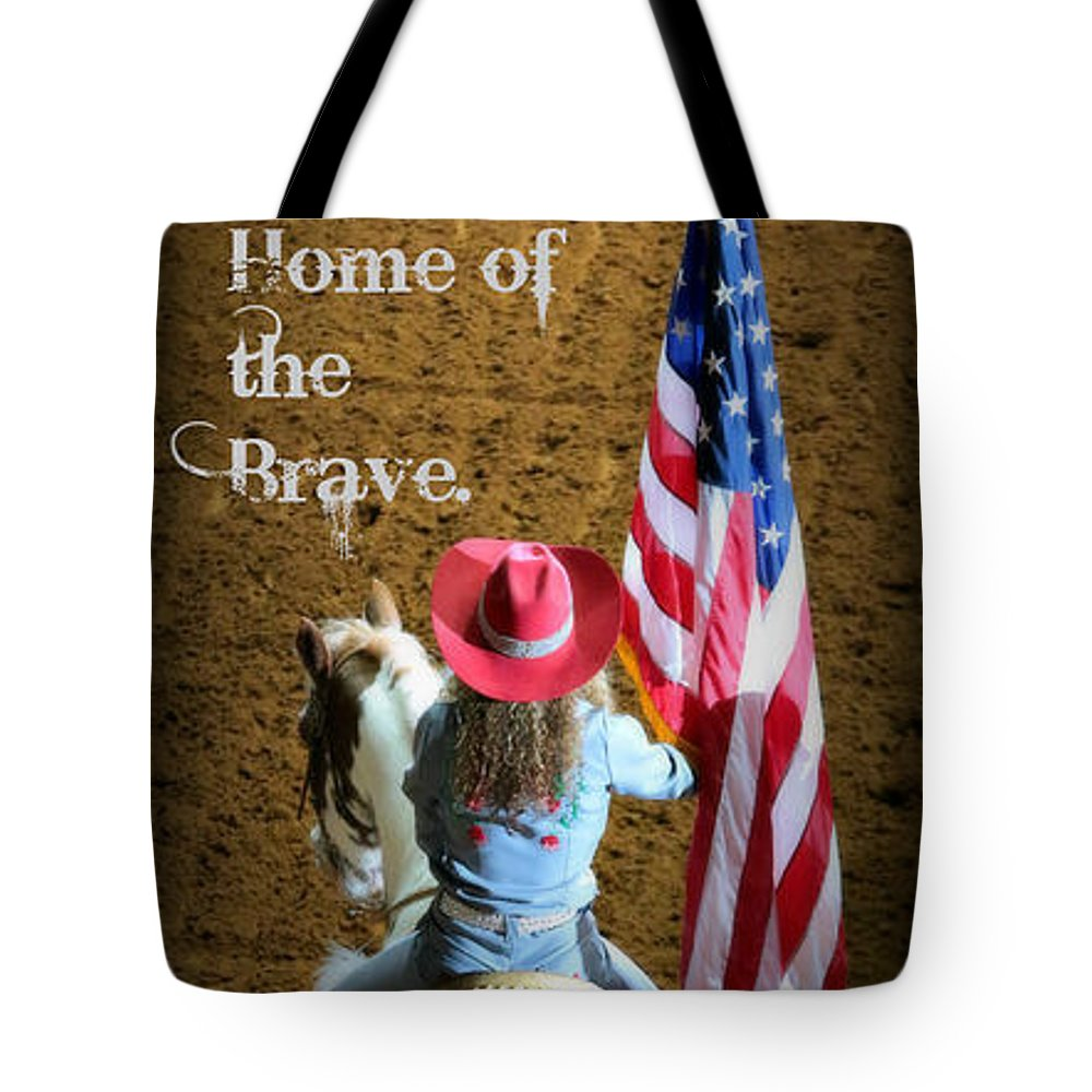 Rodeo Tote Bag featuring the photograph Rodeo America - Land Of The Free by Stephen Stookey