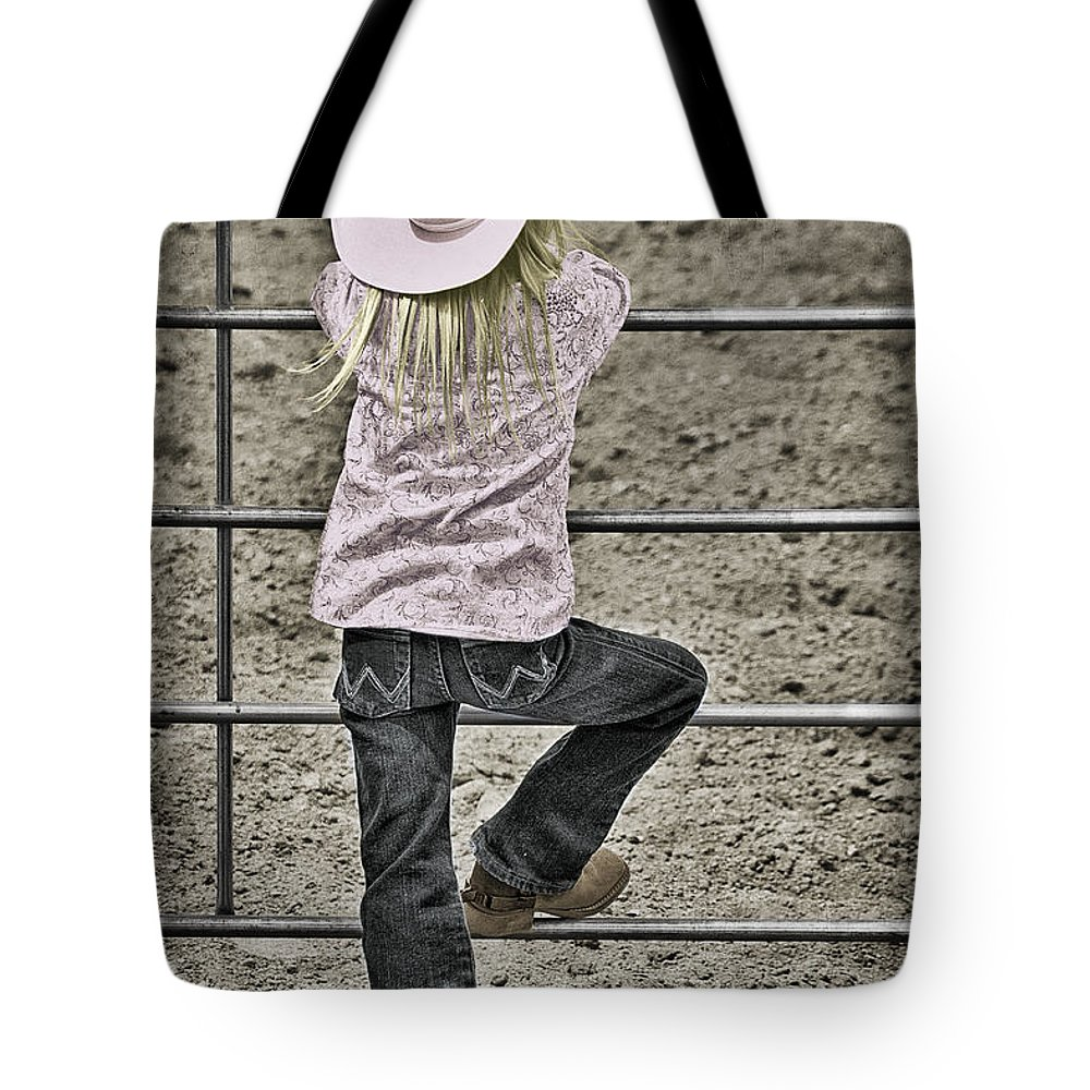 Rodeo Queen Wanna Be Tote Bag featuring the photograph Rodeo Queen Wanna Be by Priscilla Burgers