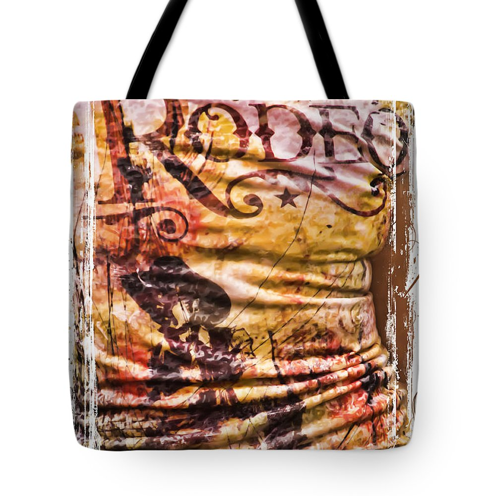 Rodeo T-shirt Tote Bag featuring the photograph Rodeo T-shirt by Priscilla Burgers