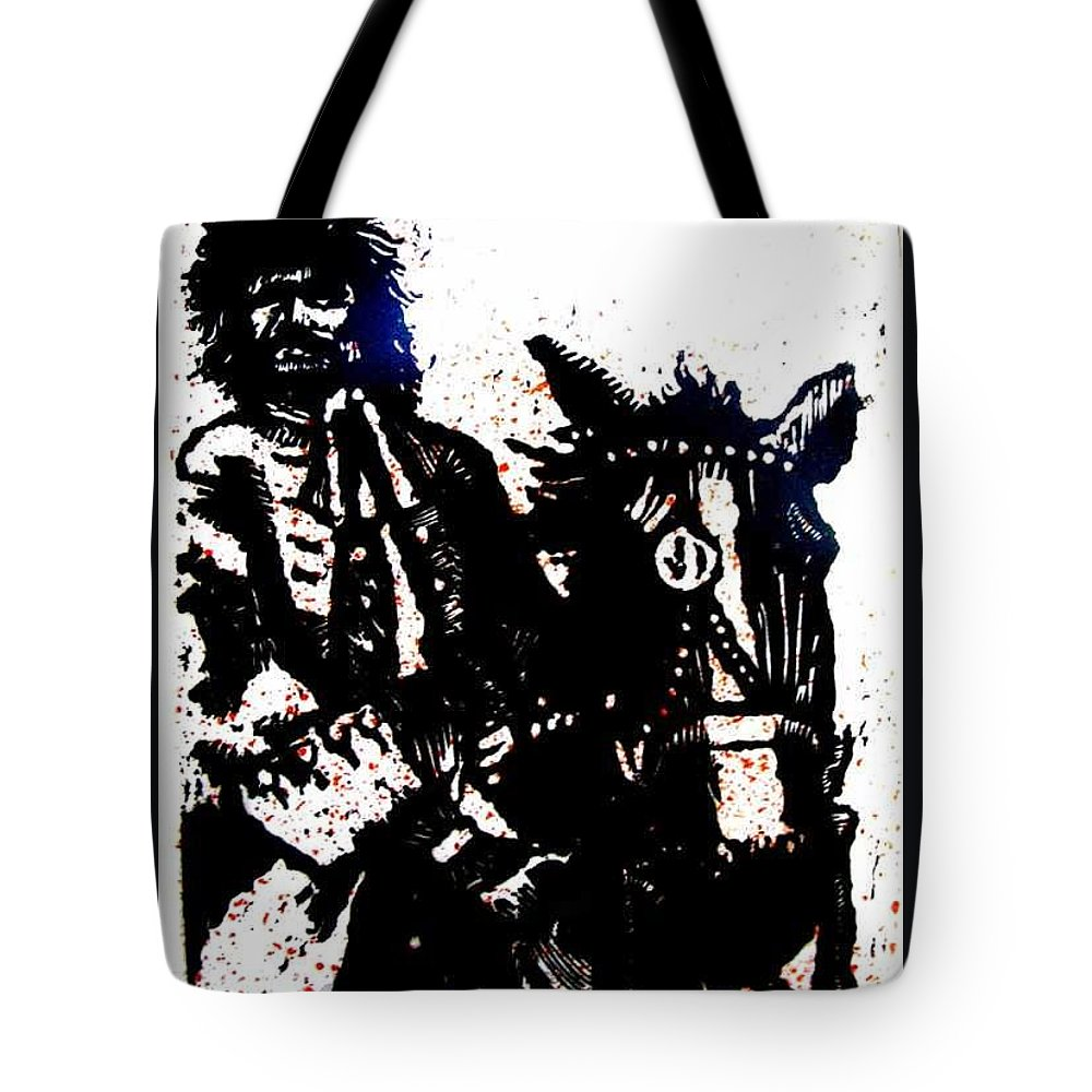 English Highwayman Tote Bag featuring the mixed media Rogue Of The Road by Seth Weaver