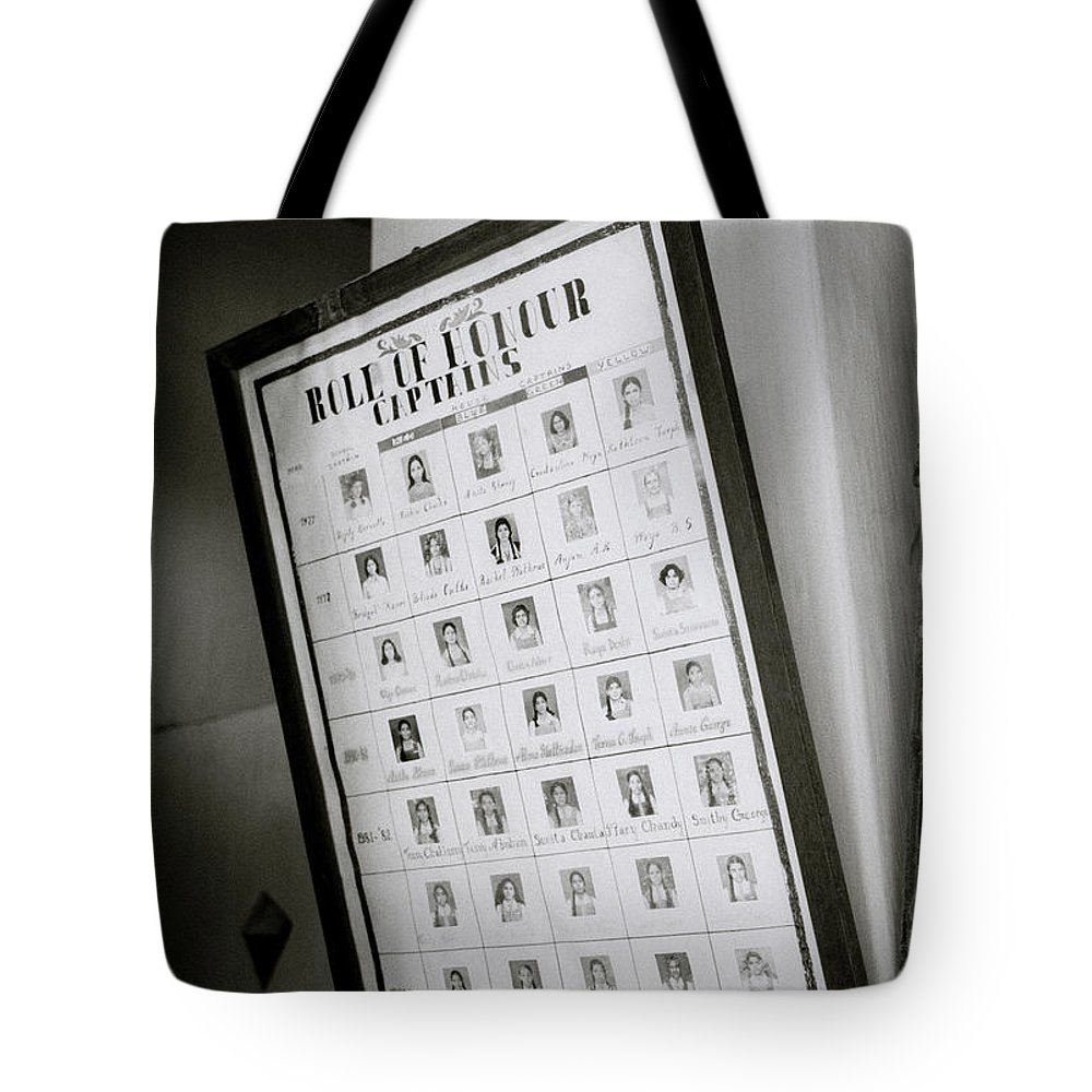 India Tote Bag featuring the photograph Roll Of Honour by Shaun Higson