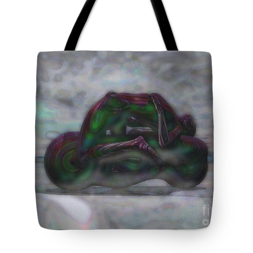Design Tote Bag featuring the mixed media Roller-play-time by Mando Xocco