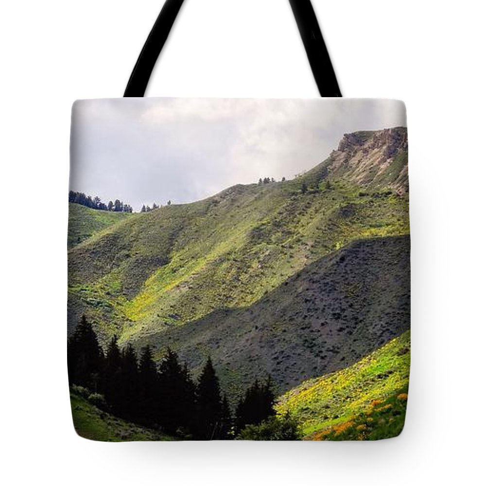 Rolling Hills Tote Bag featuring the photograph Rolling Hills by Dan Sproul