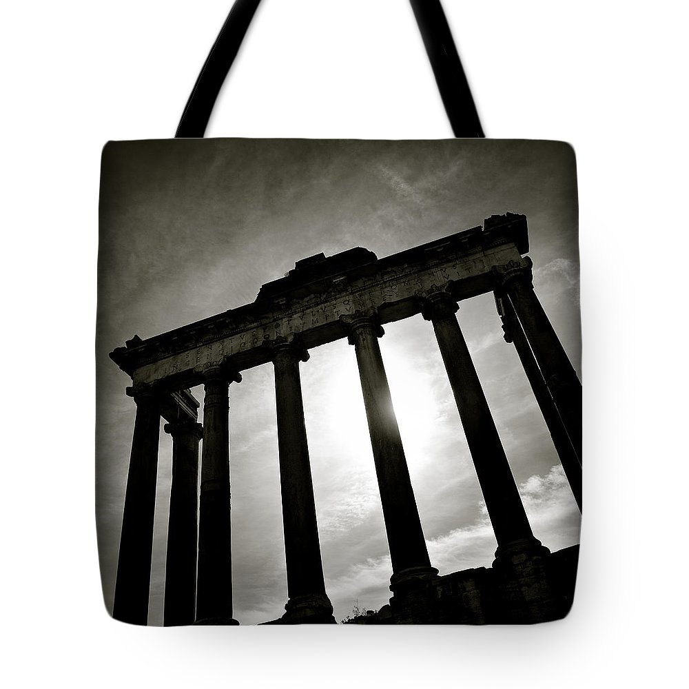 Roman Forum Tote Bag featuring the photograph Roman Forum by Dave Bowman