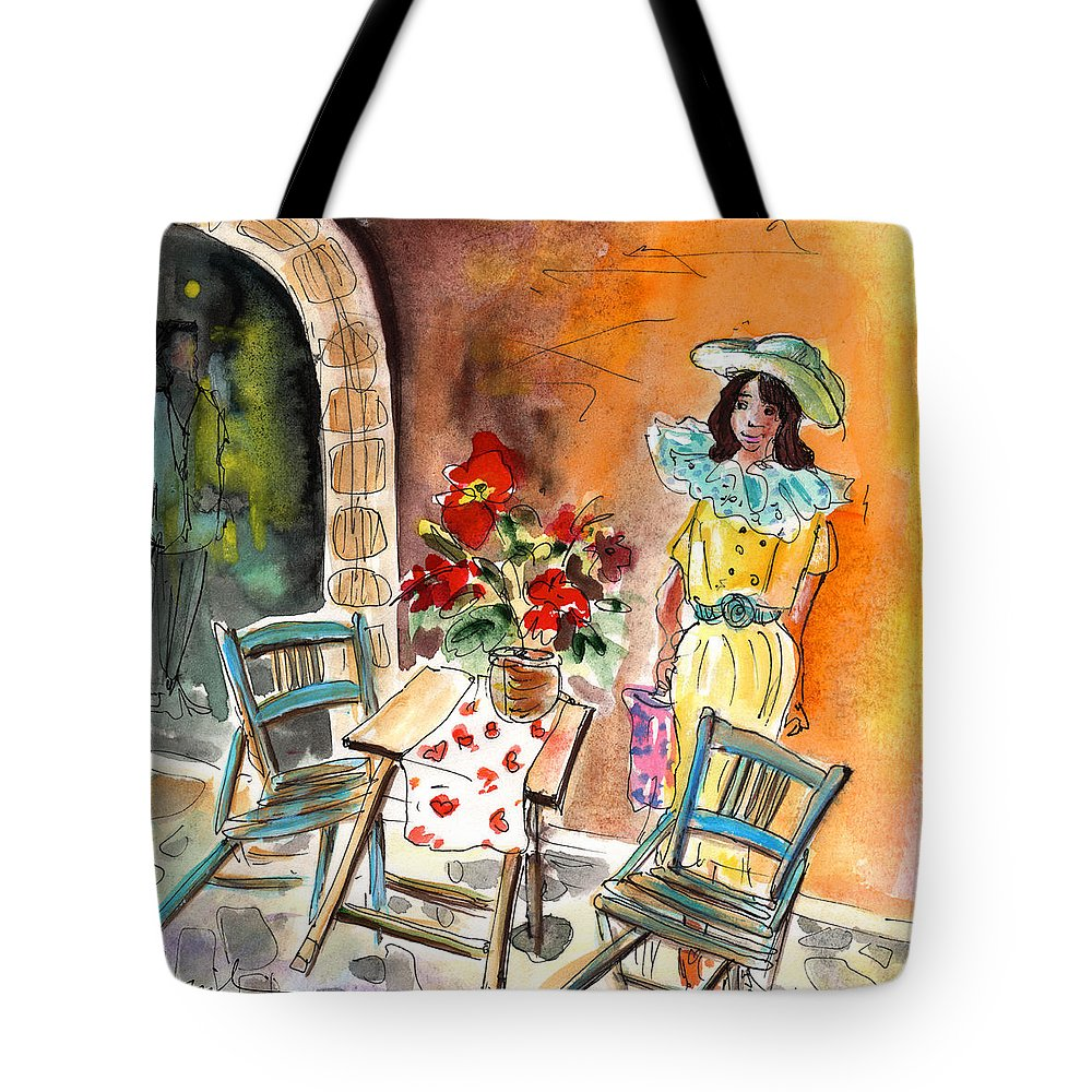 Travel Tote Bag featuring the painting Romance In Siracusa by Miki De Goodaboom